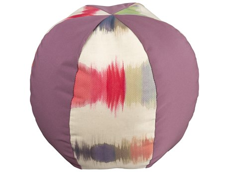 Woodard Large Beach Ball Throw Pillow with Alternating Fabrics