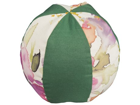Woodard Small Beach Ball Throw Pillow with Alternating Fabrics