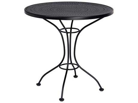 Woodard Parisienne Wrought Iron 30 Round Pattern Metal Top Bistro Table