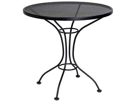 Woodard Parisienne Wrought Iron 30 Round Mesh Top Bistro Table
