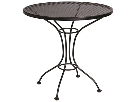 Woodard Parisienne Wrought Iron 30''Wide Round Mesh Top Bistro Table