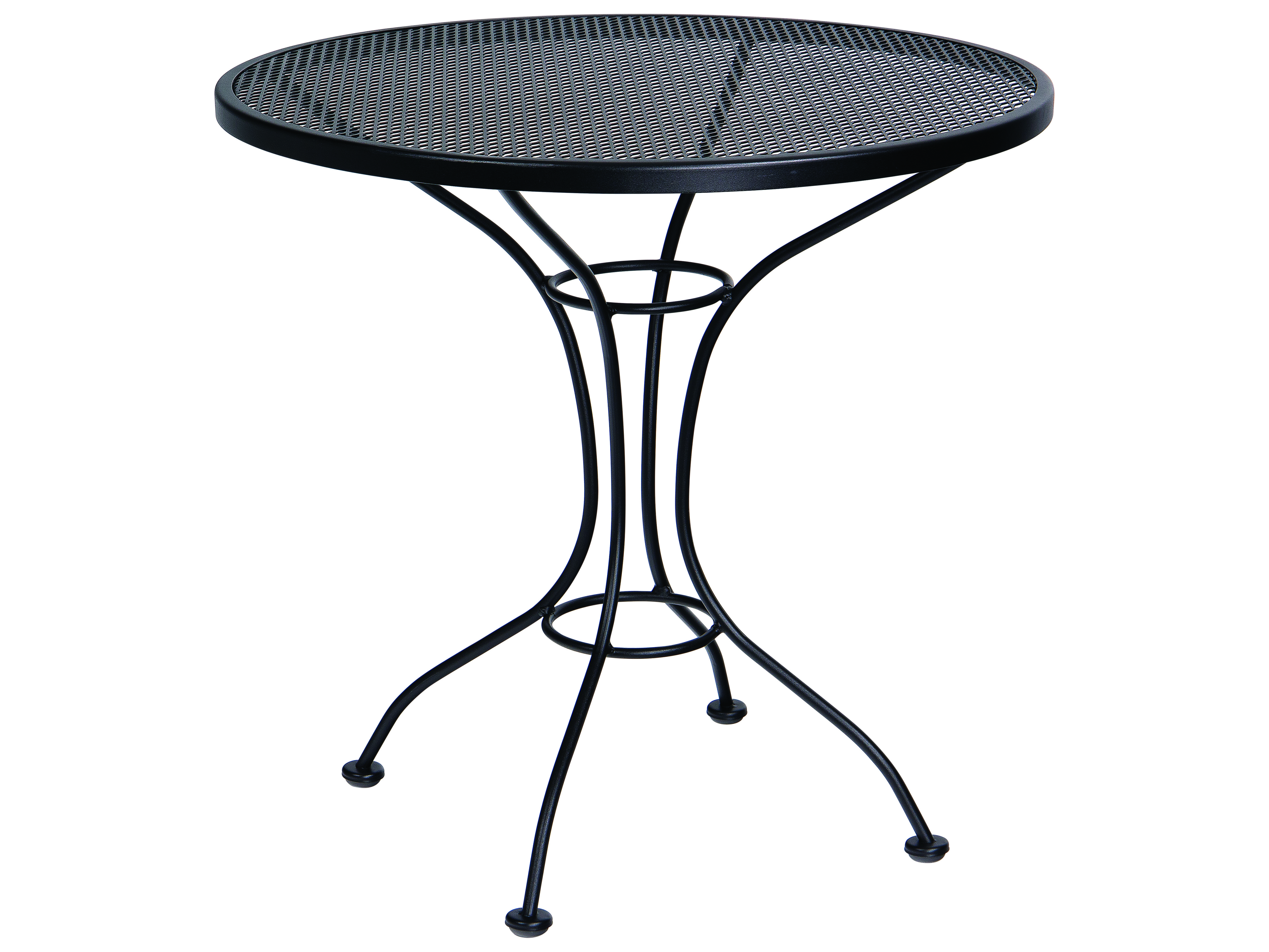 Woodard Parisienne Wrought Iron 30 Round Mesh Top Bistro