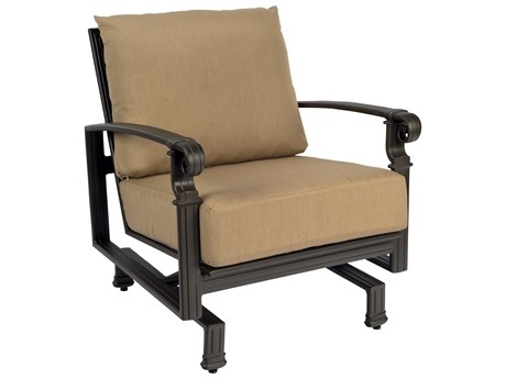 Woodard Spartan Cast Aluminum Spring Lounge Chair