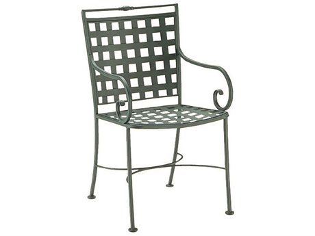 Woodard Sheffield Wrought Iron Dining Arm Chair