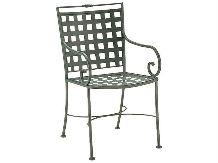 Woodard Sheffield Wrought Iron Dining Arm Chair PatioLiving