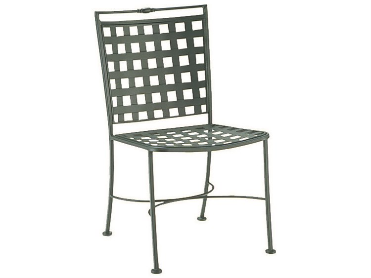 Woodard Sheffield Wrought Iron Dining Side Chair PatioLiving
