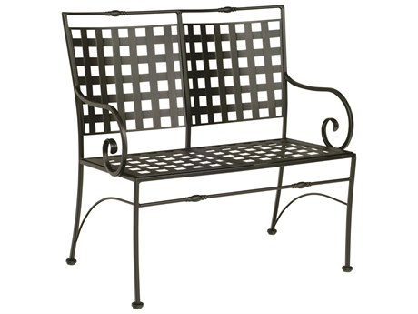 Woodard Sheffield Wrought Iron Bench