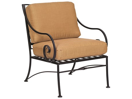 Woodard Sheffield Cushion Wrought Iron Lounge Chair