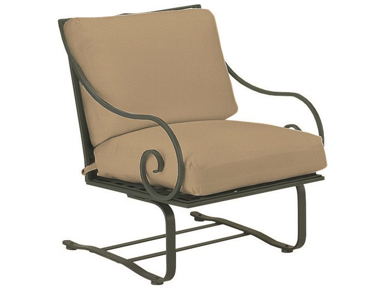 woodard sheffield wrought iron spring lounge chair 3c0065. Black Bedroom Furniture Sets. Home Design Ideas