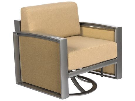 Woodard Metropolis Cushion Aluminum Swivel Gliding Lounge Chair