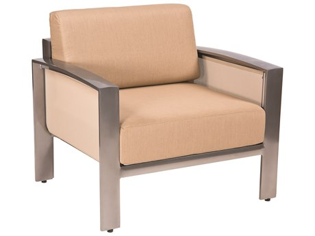 Woodard Metropolis Cushion Aluminum Lounge Chair