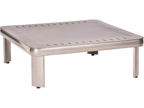 Woodard Metropolis Aluminum 32'' Wide Square Coffee Table / Sectional Table