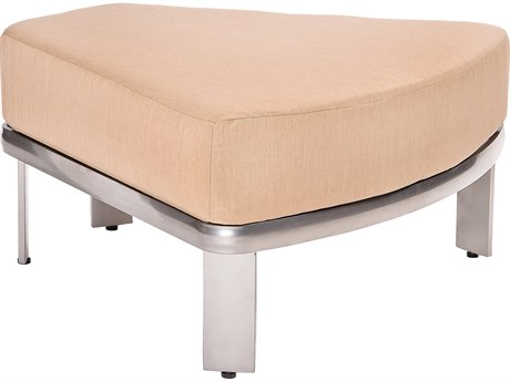 Woodard Metropolis Aluminum Sectional Wedge Ottoman