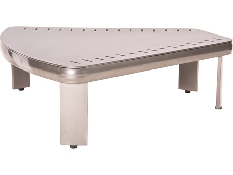 Woodard Metropolis Aluminum 36.5''W x 34.5''D Sectional Wedge Table