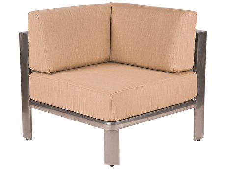 Woodard Metropolis Aluminum Corner Sectional Unit