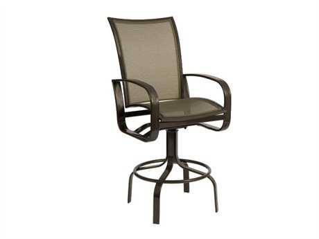Woodard Cayman Isle Flex Aluminum Swivel Bar Stool