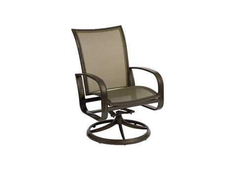 Woodard Cayman Isle Flex Aluminum Swivel Rocker Dining Chair