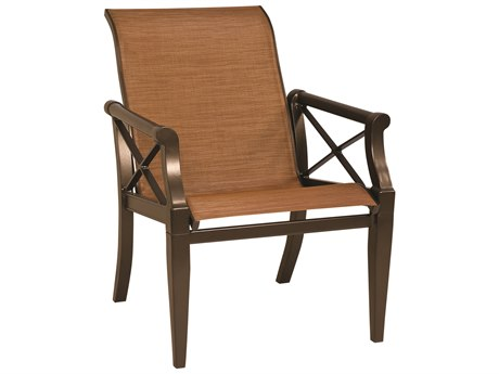 Woodard Andover Sling Aluminum Low Back Dining Chair