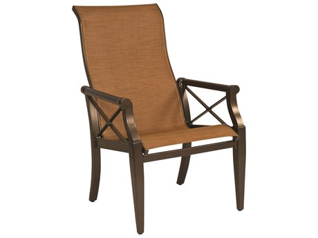 Woodard Andover Sling Aluminum High Back Dining Arm Chair