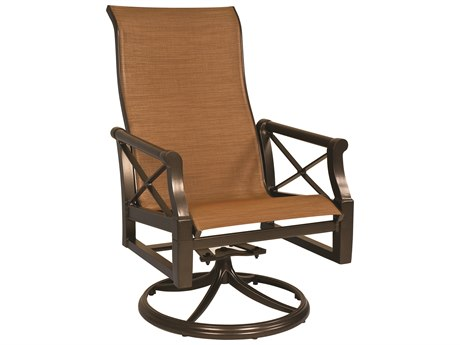 Woodard Andover Sling Aluminum High Back Swivel Rocker