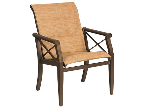 Woodard Andover Padded Sling Dining Chair