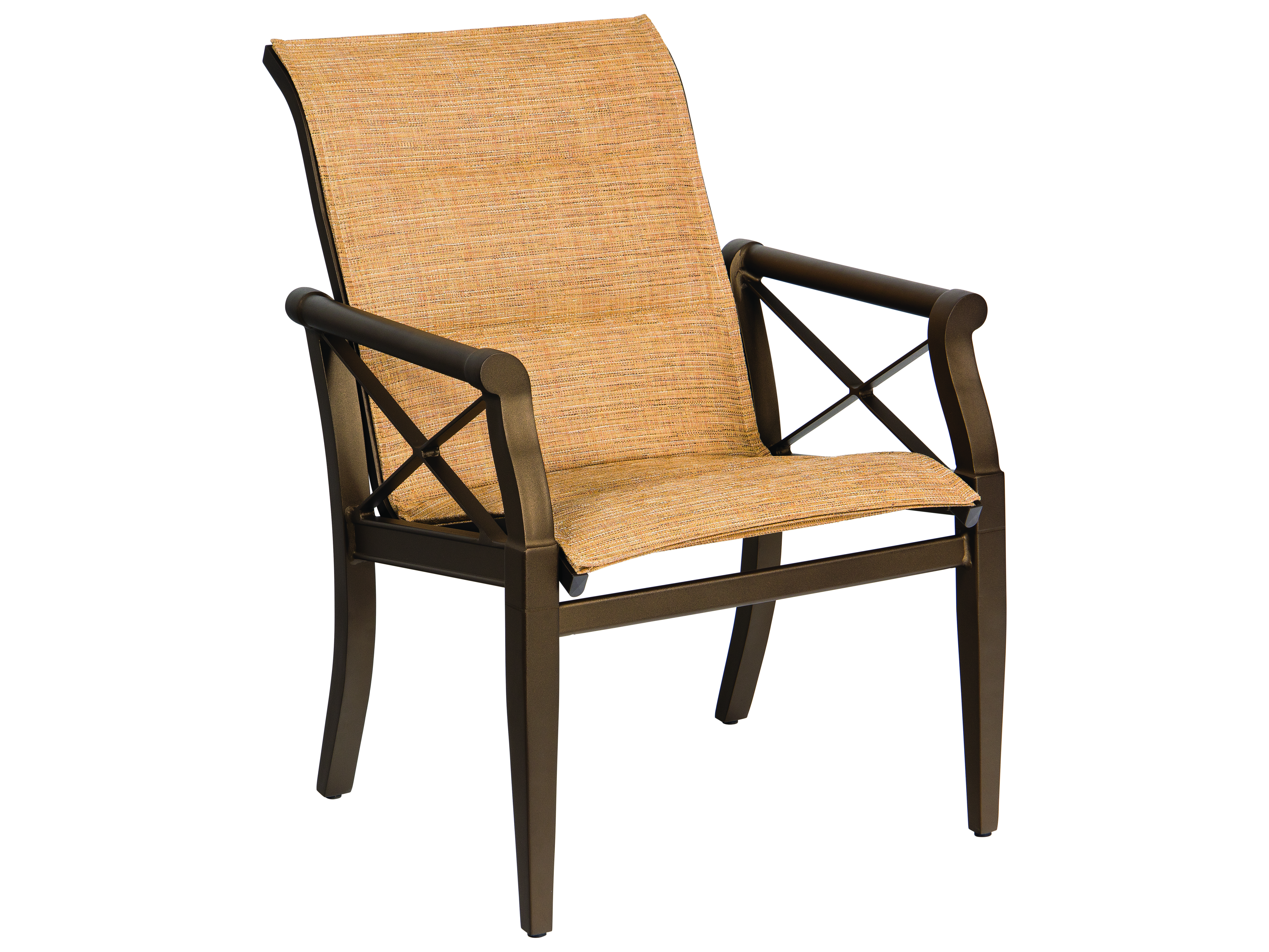 Woodard Andover Padded Sling Dining Chair 3q0501