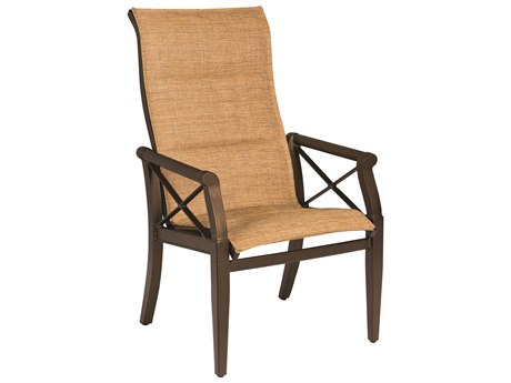 Woodard Andover Padded Sling High Back Dining Chair