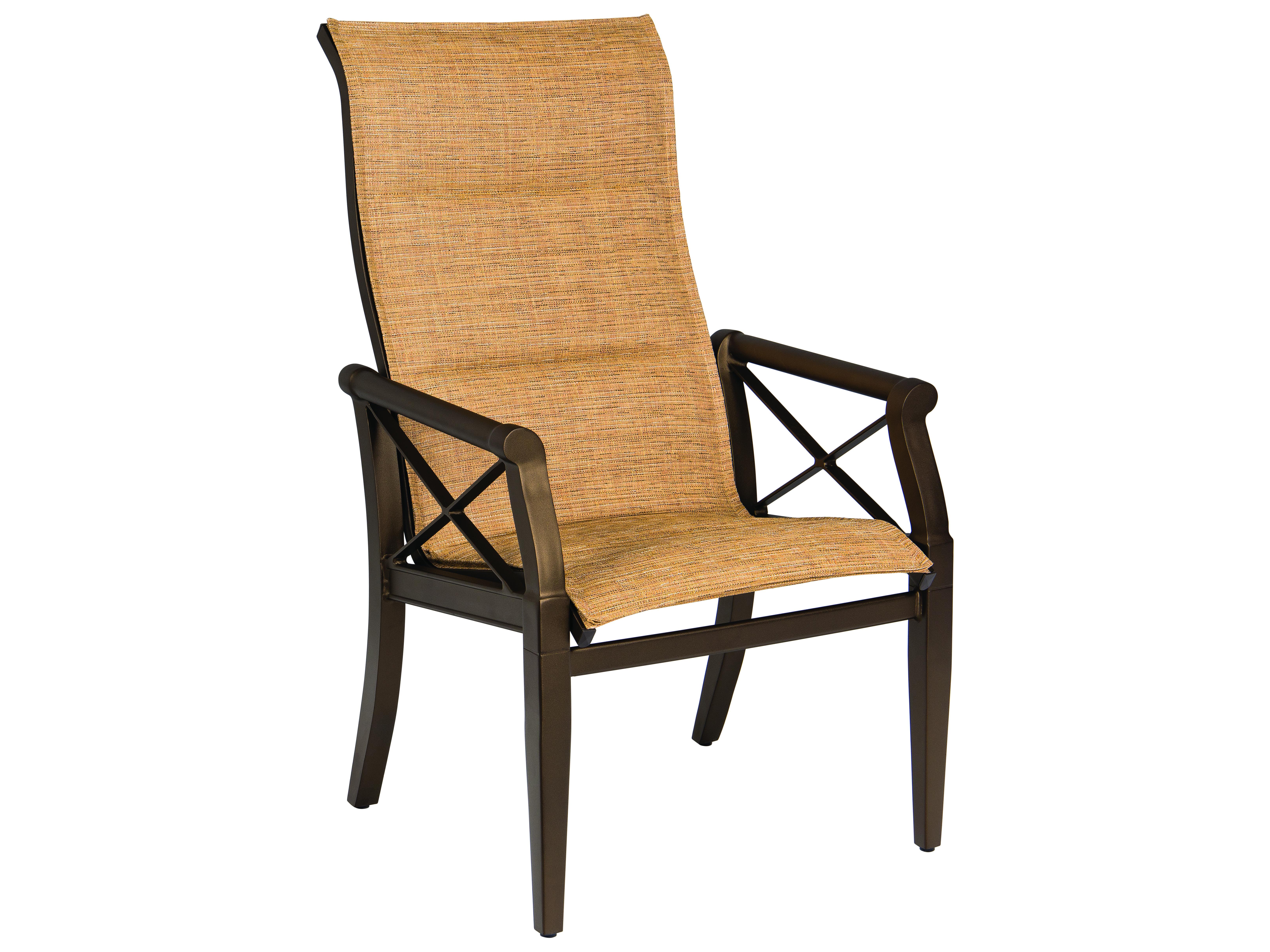 woodard andover padded sling high back dining chair wr3q0525. Black Bedroom Furniture Sets. Home Design Ideas