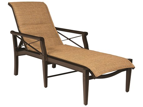 Woodard Andover Padded Sling Aluminum Adjustable Chaise Lounge