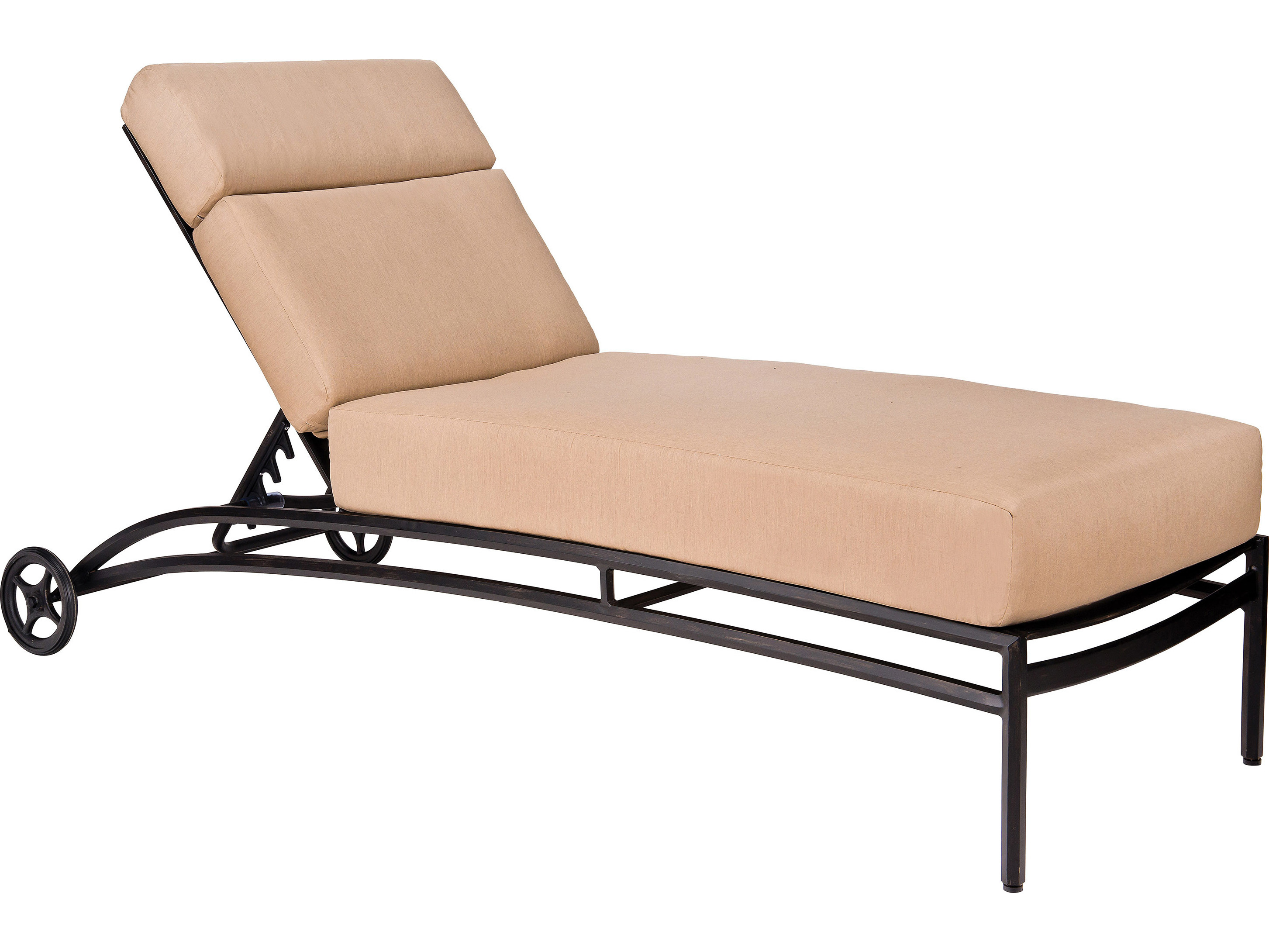 Woodard nob hill aluminum chaise lounge 3u0470 for Aluminum chaise lounges