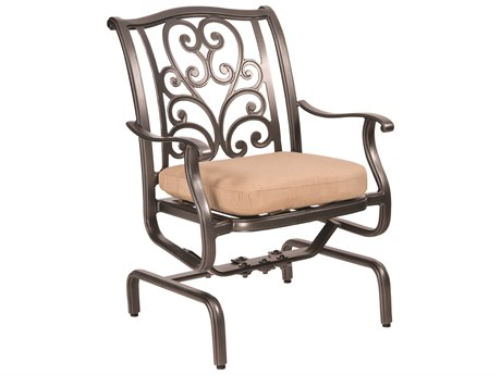 Woodard New Orleans Cast Aluminum Spring Rocker Dining Chair