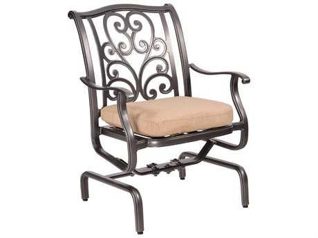Woodard New Orleans Spring Rocker Dining Arm Chair Replacement Cushions