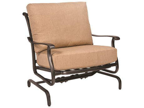 Woodard New Orleans Cast Aluminum Spring Lounge Chair