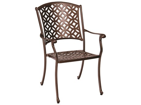 Casa Cast Aluminum Stackable Dining Arm Chair