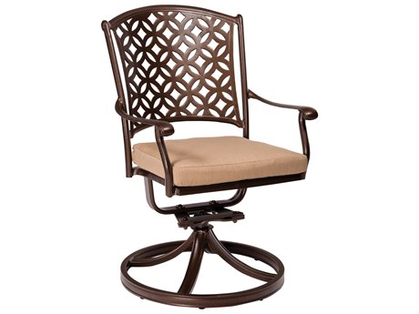 Woodard Casa Swivel Rocking Dining Chair Replacement Cushions