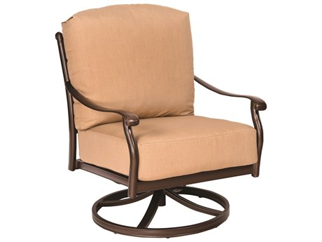 Woodard Casa Cast Aluminum Swivel Rocking Lounge Chair