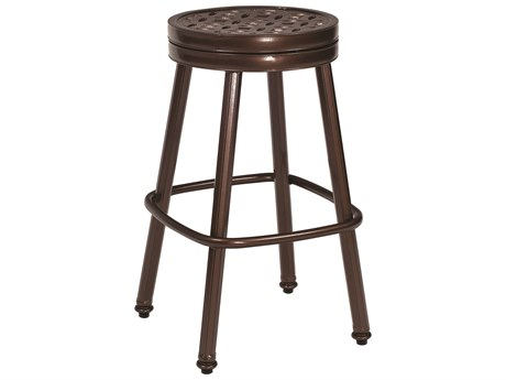 Woodard Casa Cast Aluminum Round Swivel Bar Stool