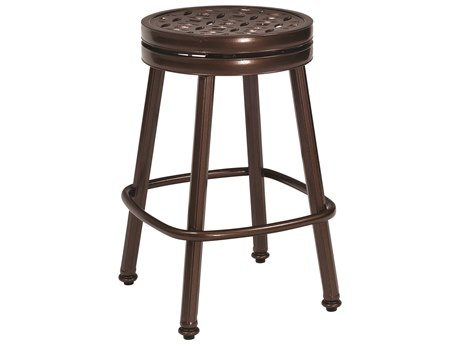 Woodard Cast Casa Cast Aluminum Round Swivel Counter Stool