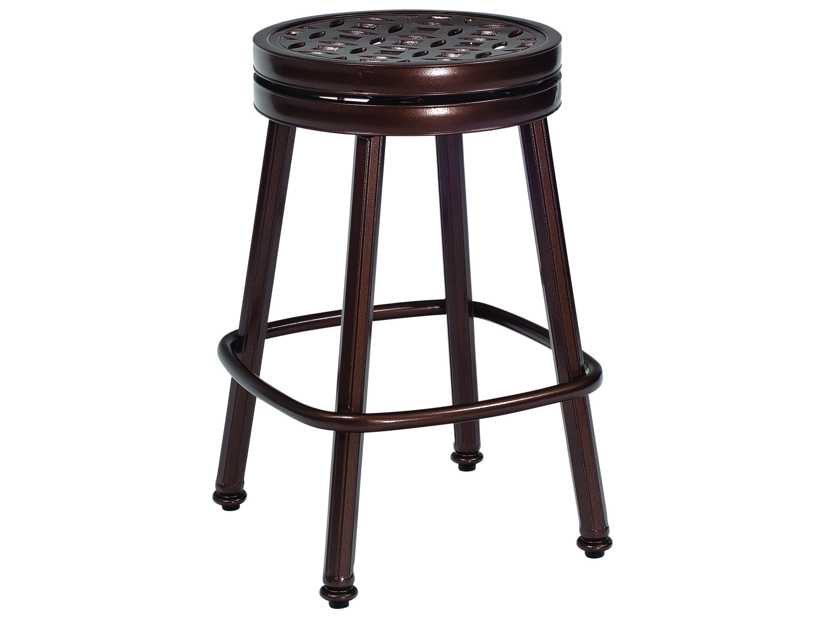 Admirable Woodard Cast Casa Cast Aluminum Round Swivel Counter Stool Bralicious Painted Fabric Chair Ideas Braliciousco