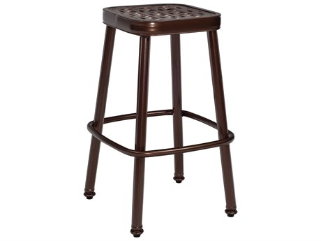 Woodard Casa Cast Aluminum Stationary Bar Stool