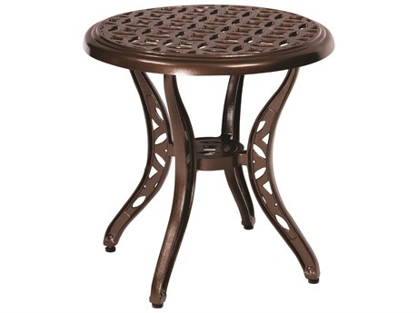 Woodard Casa Cast Aluminum 22''Wide Round End Table PatioLiving