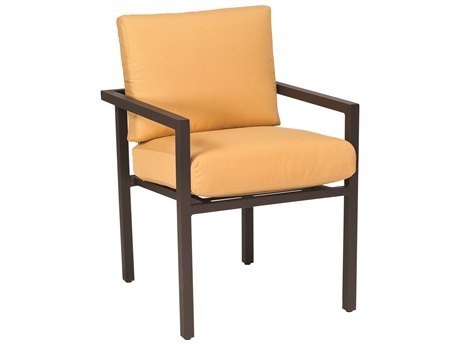 Woodard Salona Cushion By Joe Ruggiero Aluminum Stackable Dining Arm Chair