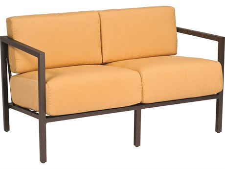 Woodard Salona Cushion By Joe Ruggiero Aluminum Loveseat PatioLiving