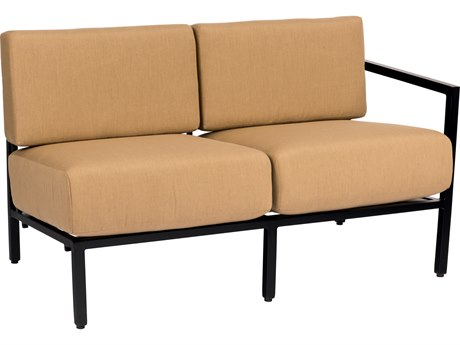 Woodard Salona Cushion By Joe Ruggiero Aluminum RAF Sectional Loveseat