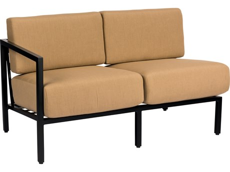 Woodard Salona Cushion By Joe Ruggiero Aluminum LAF Sectional Loveseat