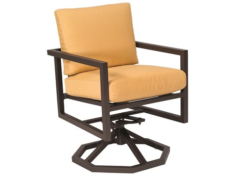 Woodard Salona Cushion By Joe Ruggiero Aluminum Swivel Rocker Dining Chair