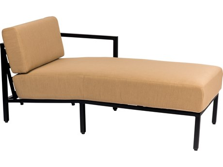 Woodard Salona Cushion By Joe Ruggiero Aluminum RAF Chaise Sectional Unit