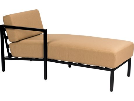 Woodard Salona Cushion By Joe Ruggiero Aluminum LAF Chaise Sectional Unit