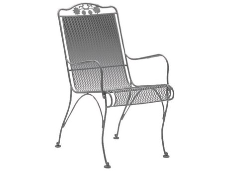 Woodard Briarwood Wrought Iron High Back Dining Chair