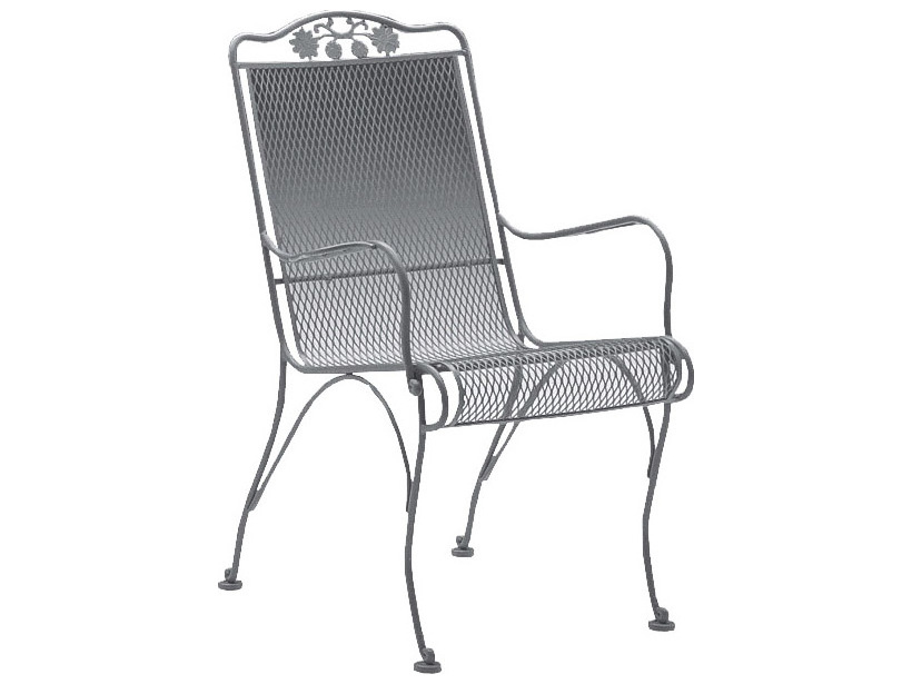 Wrought Iron Barrel Chair Outdoor Cushions: Woodard Briarwood High Back Dining Chair Replacement